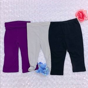 Baby Girl Yoga Pants, Gathered Leggings & Joggers